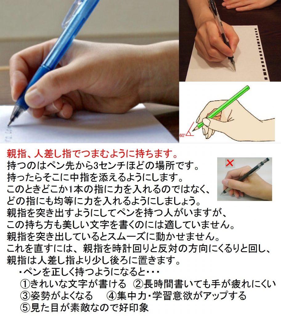 鉛筆の持ち方B